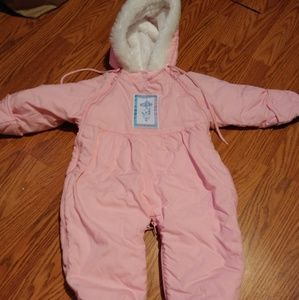 Vintage baby snow outfit